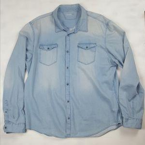 Calvin Klein Men's Light Colored Long Sleeve Shirt
